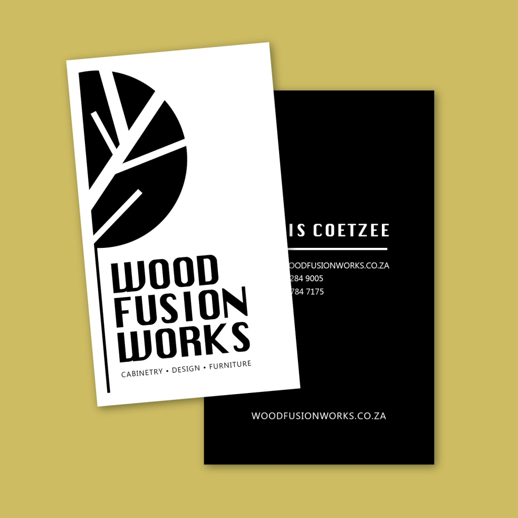 Wood Fusion Business Card Design by Emily House