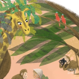 Nursery Safari Detail by Emily House